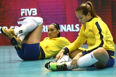 São Paulo (SP) - 10/07/15 - Brasil x Bélgica - Jaqueline e Monique